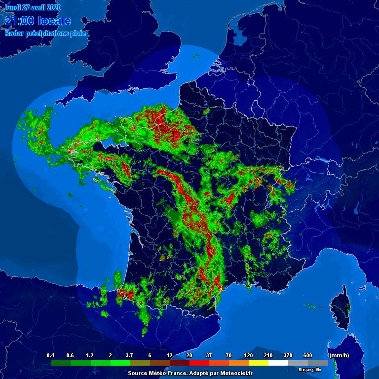 Meteociel.fr - Radar de précipitations pluie - Radar France