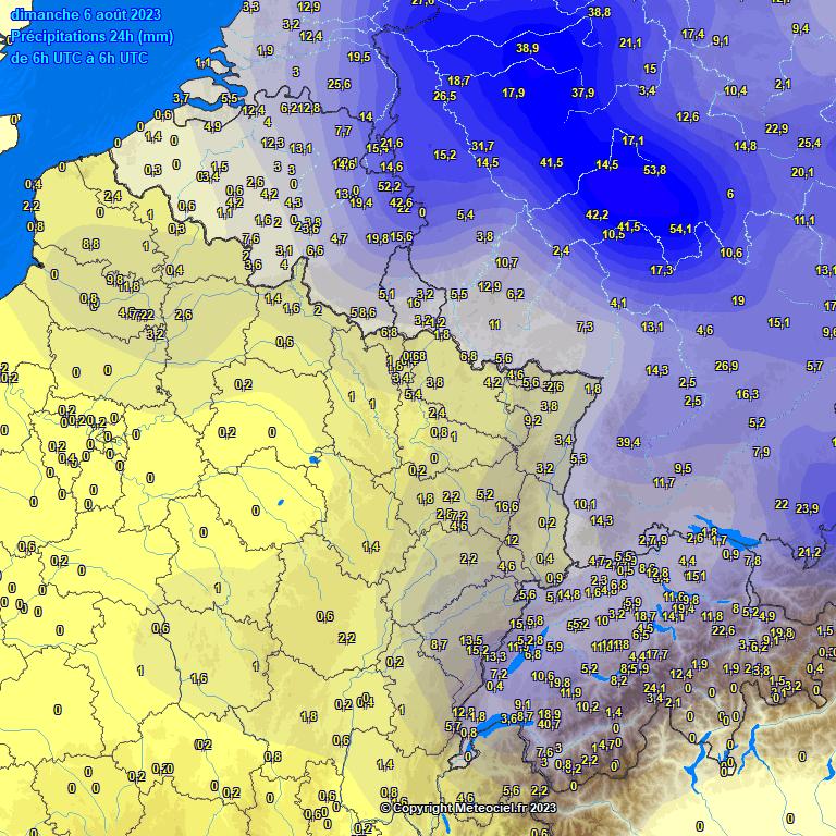 précipitations 24h belgique