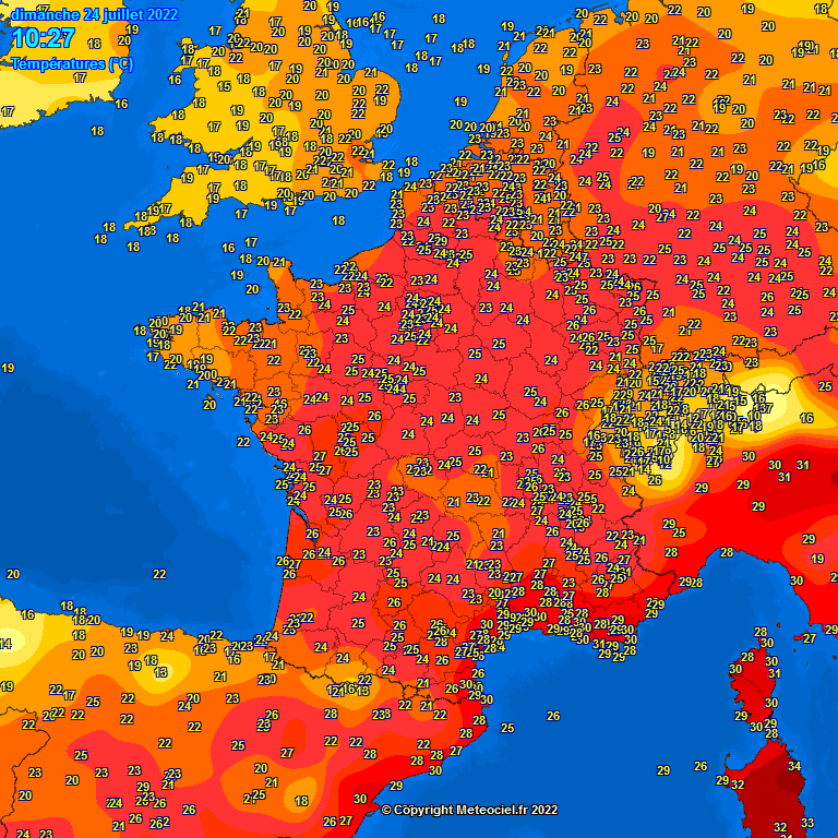 Carte meteo France Europe en direct