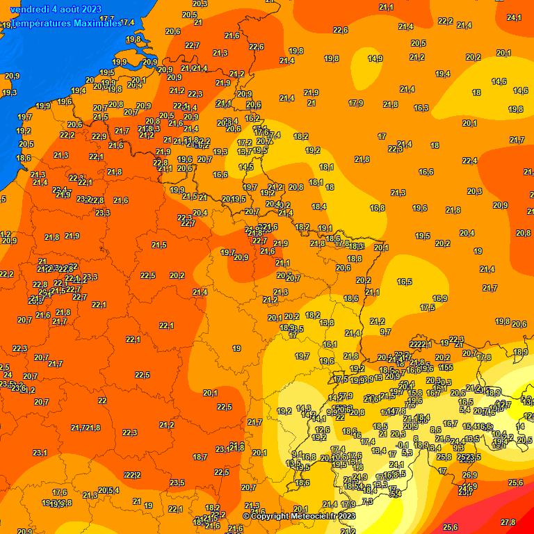 températures maximales belgique